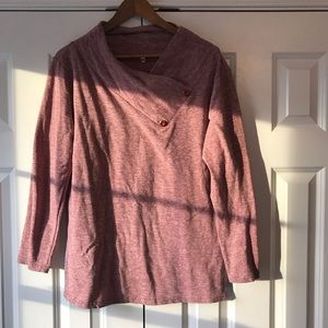 Tops - Dusty Rose Cowl Neck Top L